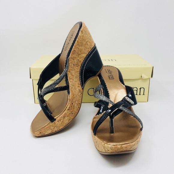 a5384713a983 New Cathy Jean Brazil Wedge Sandal 7
